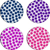 Sajawathomes Colorfull Pattern Set Of Four Design 52 Wood Coaster Set (Pack Of 4)