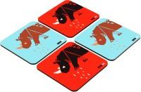 One For Blue Conservation Of Wildlife & Habitat Medium Density Fibreboard Coaster Set (Pack Of 4) - COAE2PM6E3AY6MJT