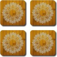 Shaildha Designer Medium Density Fibreboard Coaster Set Multicolor, Pack Of 4