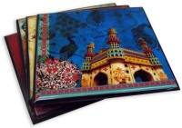 The Bombay Store India monuments Acrylic Coaster Set Pack of 4
