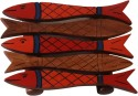 Unravel India Hand Painted Fish Mango Wood Coaster Set - Pack Of 4