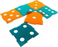 Level Two Square Acrylic Coaster Set Orange, Blue, Pack Of 6