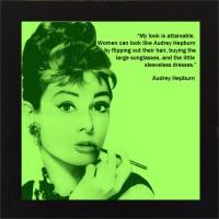 E-Studio Audrey Hepburn Wood Coaster (Pack Of 1)