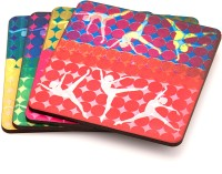 ARTychoke Multi Ballerina Wood Coaster Set (Pack Of 4)