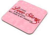 PosterGuy Square Wood Coaster Pink, White, Pack Of 1