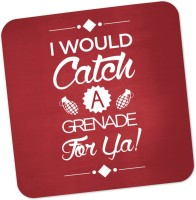 PosterGuy I Would Catch A Granade For You Bruno Mars Inspired Wood Coaster Multicolor, Pack Of 1