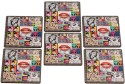 2ndmay Music And Love And Fashion Wooden Coaster Set - Pack Of 6