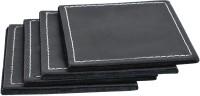 Frestol.com Plain Leather Coaster Set (Pack Of 4)