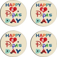 Tiedribbons Round Wood Coaster Set Multicolor, Pack Of 4 - COAE7S68CGCGHY8S