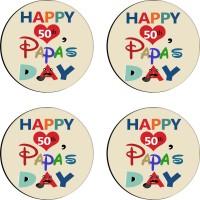 Tiedribbons Round Wood Coaster Set Multicolor, Pack Of 4 - COAE7S6843BS8YEG