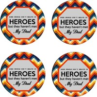 Tiedribbons Round Wood Coaster Set Multicolor, Pack Of 4 - COAE7S68QTQY6YTH
