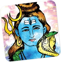 PosterGuy Lord Shiva Graphic Illustration Graphic Illustration Wood Coaster Multicolor, Pack Of 1