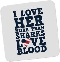 PosterGuy I Love Her More Than Sharks Frank Underwood Quote House Of Cards Inspired Wood Coaster White, Blue, Pack Of 1
