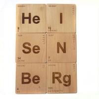 Engrave Breaking Bad Heisenberg Wood Coaster Set (Pack Of 6)