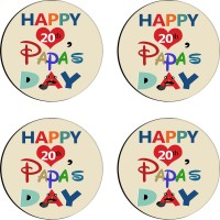 Tiedribbons Round Wood Coaster Set Multicolor, Pack Of 4 - COAE7S68NTZFKZPG
