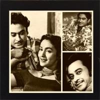 E-Studio Kishore Kumar And Madhubala's Collection Wood Coaster (Pack Of 1)