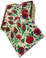 Amraai Square Acrylic, Wood Coaster Set Multicolor, Pack Of 5 - COAE794KYZDUDZRA