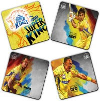 Get Fatang Roar Of The Kings Wood Coaster Set Multicolor, Pack Of 4