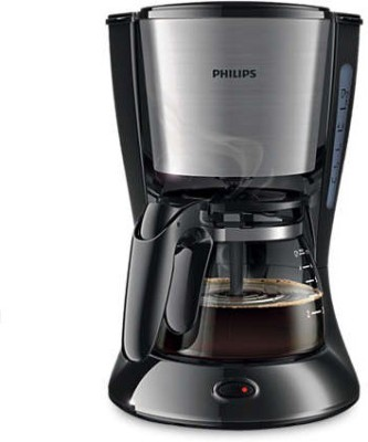 Philips 7434/20 4 cups Coffee Maker (Black, Metal)
