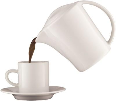 aerolatte Cafe Porcellana 4 cups Coffee Maker (Black)