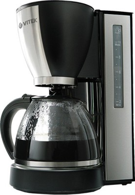 Vitek  VT-1509 BK-I 12 cups Coffee Maker (Black, Silver)