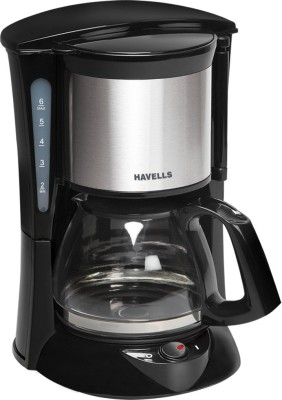 Havells Coffee Maker Demo : Havells Crystal 600-Watt Stainless Steel Tea and Coffee Maker (Black)
