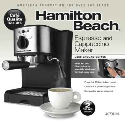 Hamilton Beach 40791 IN Espresso & Cappuccino Maker
