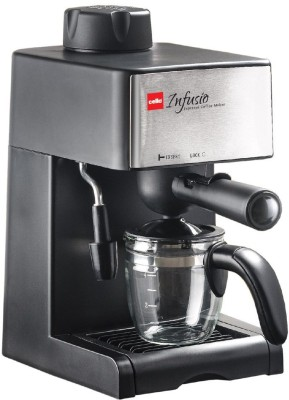 Cello infusio 4 cups Coffee Maker (Black, Steel)