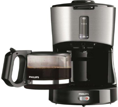 Philips HD 7450/00 6 Cups Coffee Maker (Black and Metal)