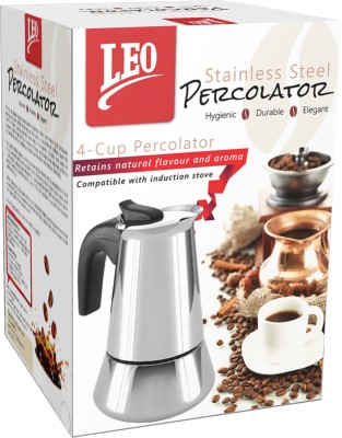 Leo Retail Concepts LCP4C1 4 Cups Espresso Coffee Maker (Silver)