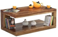HomeEdge Solid Wood Coffee Table (Finish Color - Teak Finish) - CFTEH2NFQRVGX5Y6
