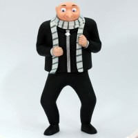 Tootpado Despicable Me Figure Toy Piggy Kiddy - Gru Coin Bank Black