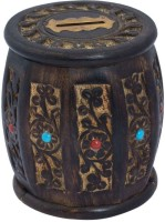 Craft Art India CAI-HD-0272 Coin Bank (Black)