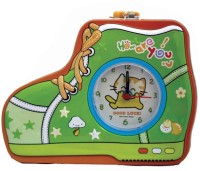 Tootpado Shoe Shaped Metal Piggy Bank with Clock & Alarm Coin Bank Green