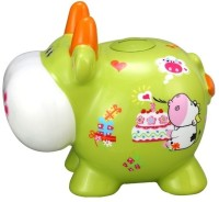 GoGifts Big Cow Piggy Coin Bank Green, Orange, White