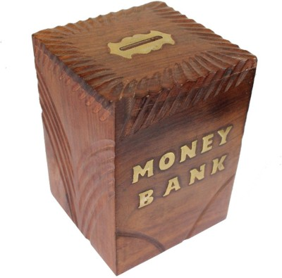 Quikzee Creation Wooden Coin Bank