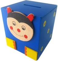 Klassik Square Shape Bug Coin Bank (Blue)