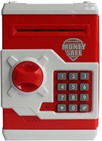 Tiny Mynee Electronic Piggy Bank /Coin Safe With Password (RED) By TINY MYNEE Coin Bank (Red, White)