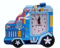 Tootpado Car Shaped Metal Piggy Bank with Clock & Alarm Coin Bank Blue