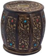 Woodpedlar Coin Banks Woodpedlar Wooden Handicraft Barrel ShapedTredy Children Piggy Money Coin Bank