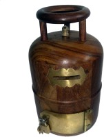 JaipurCrafts Cylinder Shaped Decorative Coin Bank (Brown)