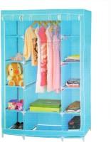 Pindia Fancy & Portable Aluminium Collapsible Wardrobe (Finish Color - Blue -wardrobe)