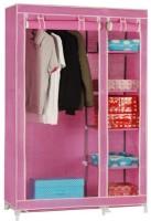 Pindia Fancy & Portable Aluminium Collapsible Wardrobe (Finish Color - Pink -B-wardrobe)