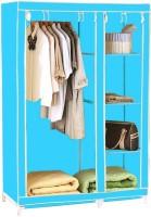 Pindia Fancy & Portable Aluminium Collapsible Wardrobe (Finish Color - Sky-Blue-B-Wardrobe)