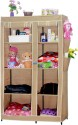 CbeeSo Mild Steel (Carbon Steel) Collapsible Wardrobe (Finish Color - Dark Beige)