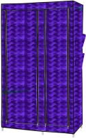 MSE India's First Leather Fabric-01 Leatherette Collapsible Wardrobe (Finish Color - Purple)