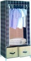 Pindia Fancy & Portable Aluminium Collapsible Wardrobe (Finish Color - Checked-B-Wardrobe)