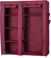 Yutiriti Fancy & Portable Aluminium Collapsible Wardrobe (Finish Color - Marroon)
