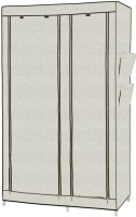 MSE Leatherette Collapsible Wardrobe (Finish Color - CREAM)