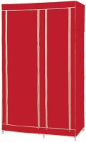 MSE Jute Collapsible Wardrobe (Finish Color - Red)